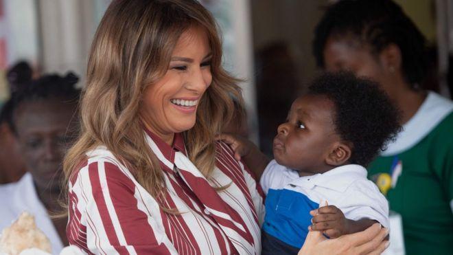 Melania Trump Visits Cape Coast Castle; Calls It 'Very Emotional'