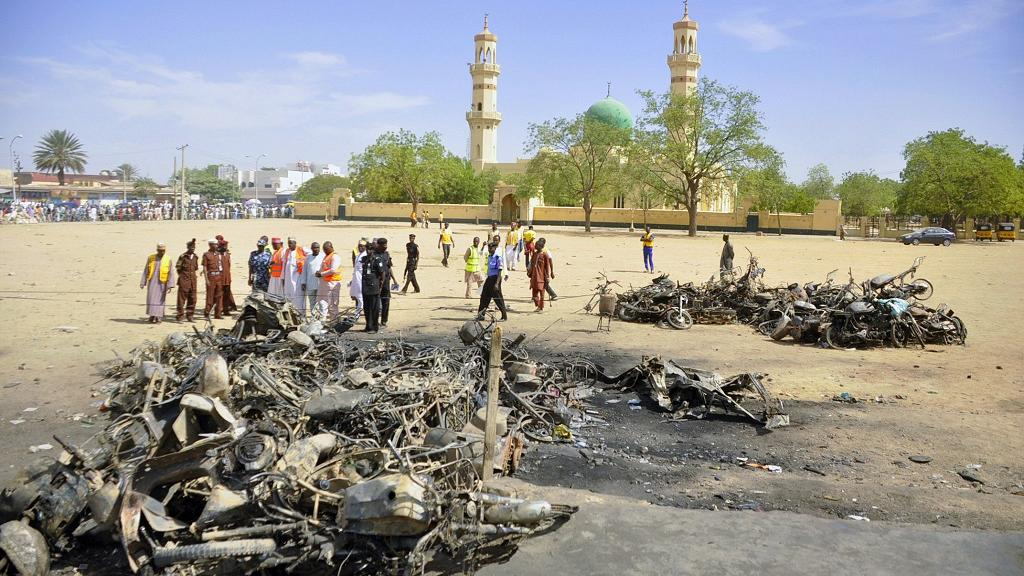 Boko Haram bombers kill 20 at camp in northeast Nigeria